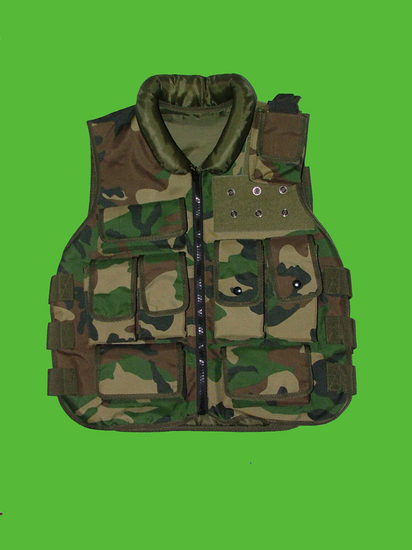 Camouflage Tactical Vest of Zipper Style
